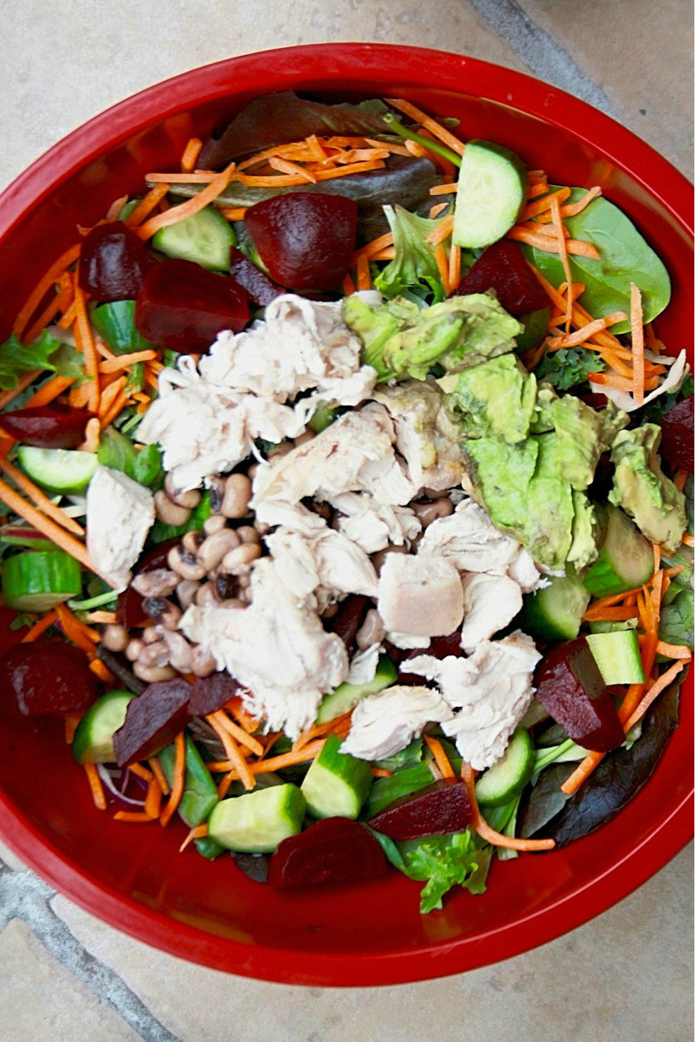 perfect salad with avocado