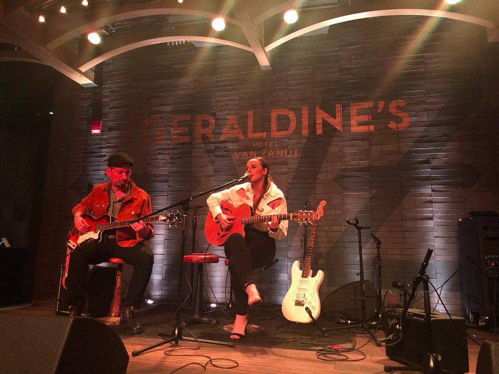 Performing at Geraldine's (Hotel Van Zandt) with Grammy winner Adrian Quesada (Prince, Grupo Fantasma) in Austin, TX | Feb. 5, 2019