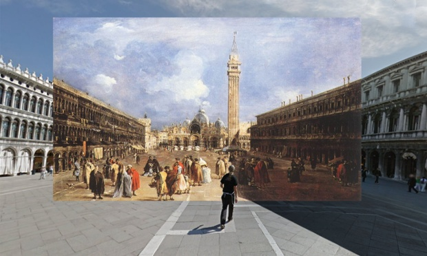 The Piazza San Marco towards the Basilica (1760-65) by Francesco Guardi