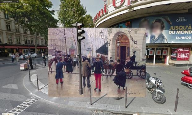 Le boulevard des Capucines devant le théâtre du Vaudeville (1889) by Jean Béraud