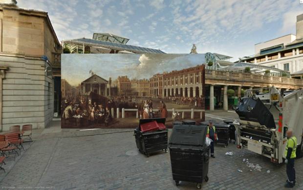 Covent Garden Market by Balthazar Nebot (1737)