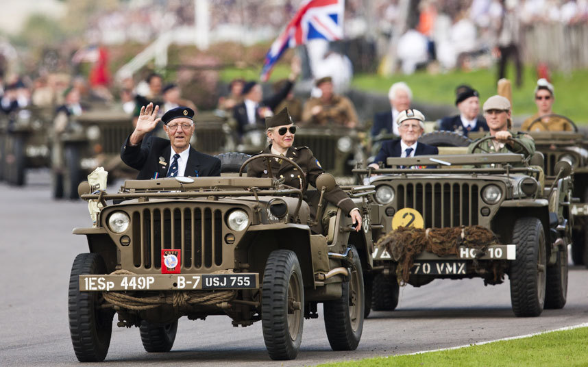 There was a poignant tribute to veterans and the people of Sussex who prevailed during the Second World War Picture: DREW GIBSON