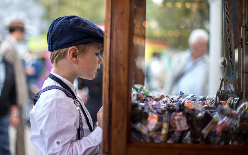 The youth of today entranced by a 1950s-style sweet shop Picture: STEPHANIE O'CALLAGHAN