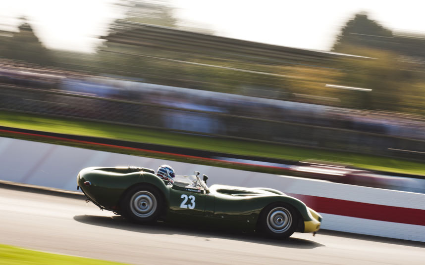 The Lister-Jaguar 'Knobbly' of John Minshaw/Philip Keen at speed during the Sussex Trophy race Picture: DREW GIBSON