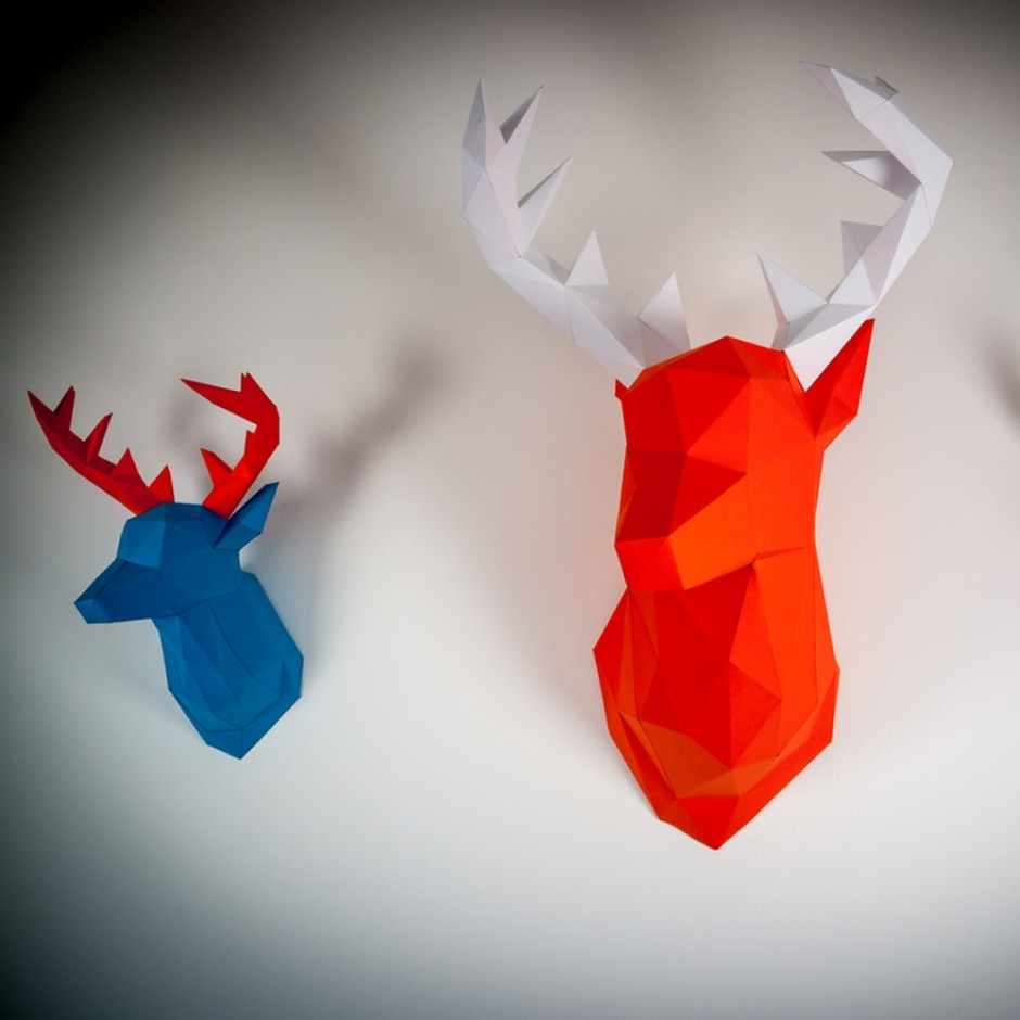 Papertrophy deer heads 1000