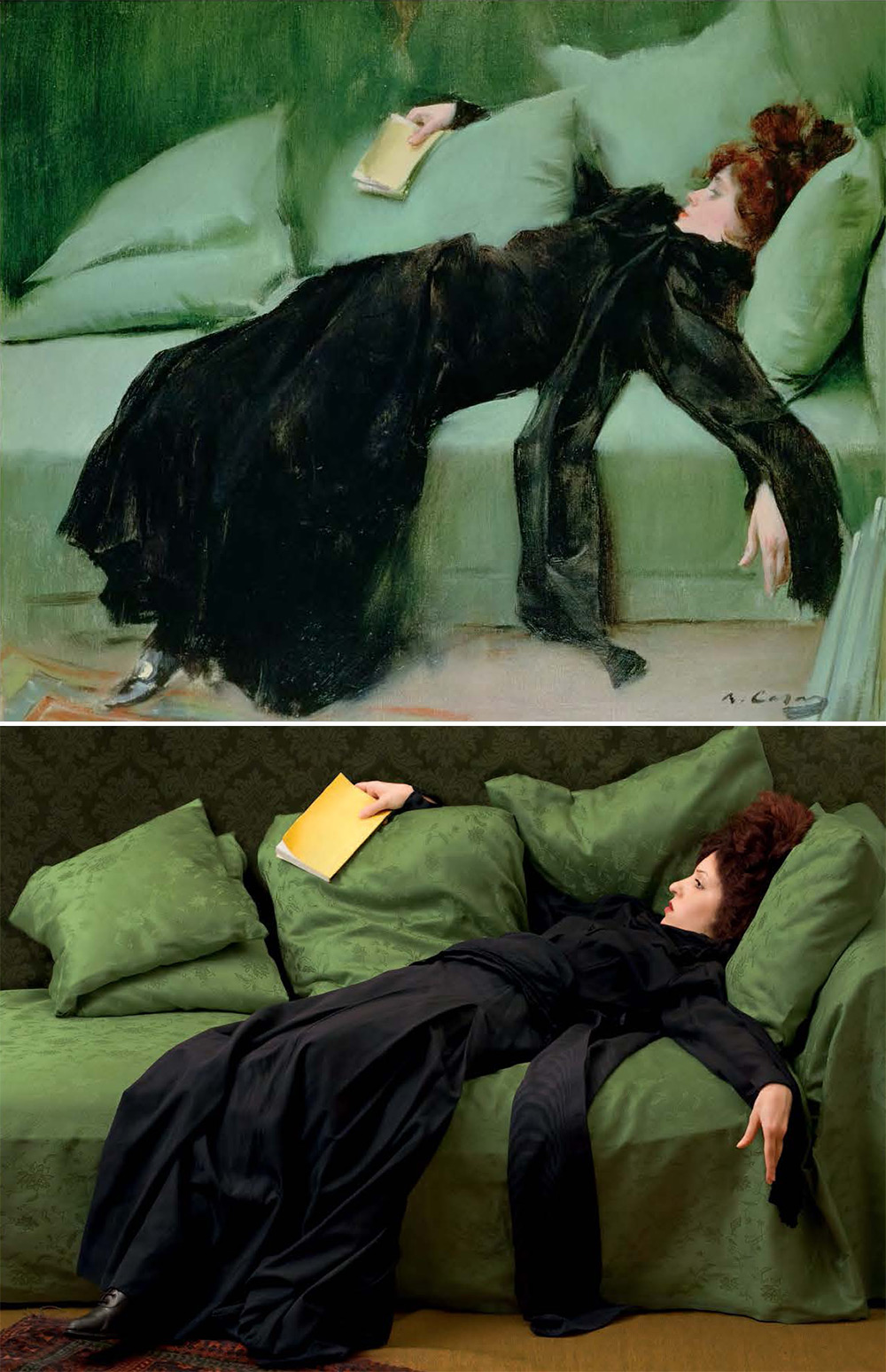 "Ramon Casas i Carbo, ""After the Ball,"" 1895, oil on canvas, remake by Tania Brassesco and Lazlo Passi Norberto"