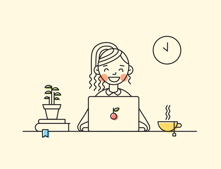 Line Art Illustration Style : A line illustration challenge by nataly sheveleva