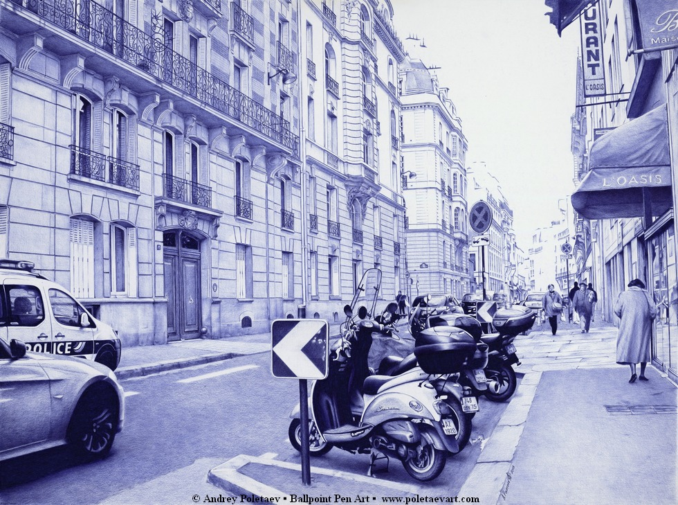 Ballpoint_Pen-Poletaev_Art_Streets_of_Paris