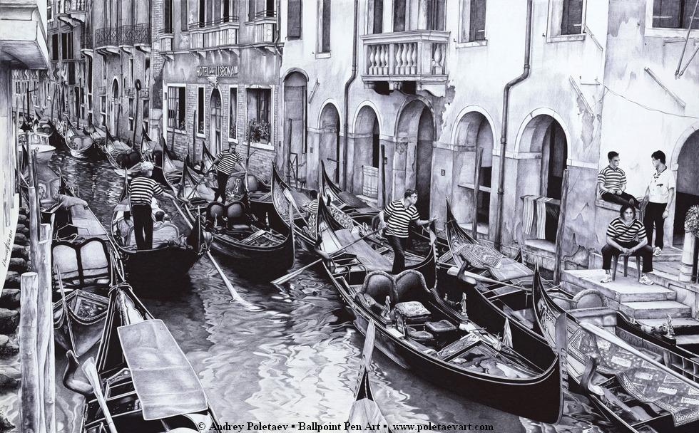 Ballpoint_Pen-Poletaev_Art_Venice_Canal
