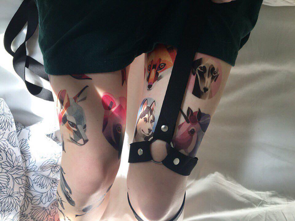 Watercolour-like tattoos by <b>Sasha Unisex</b> — Designcollector