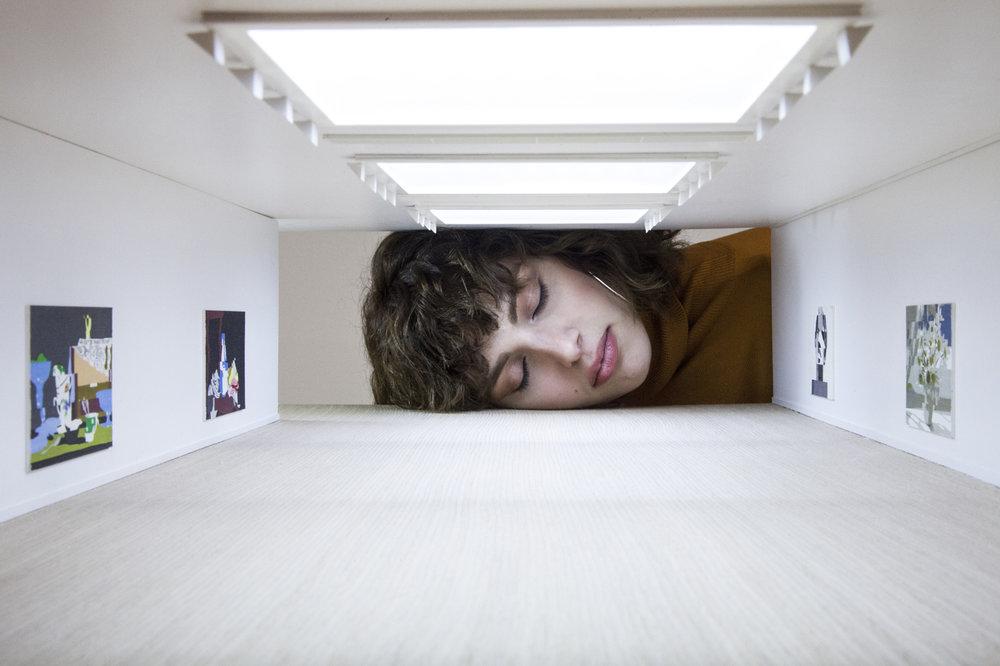 """Tezi Gabunia inside """"Saatchi Gallery"""""""