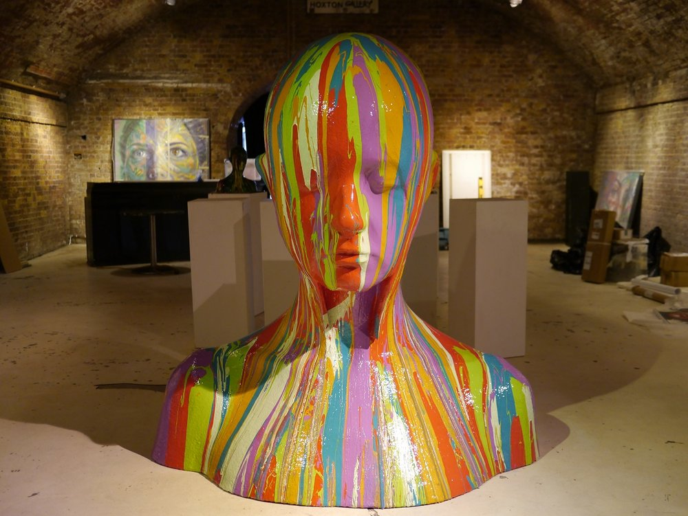 Schoony and Ryca in collaboration with David Walker for his 2014 show at the Hoxton Gallery.