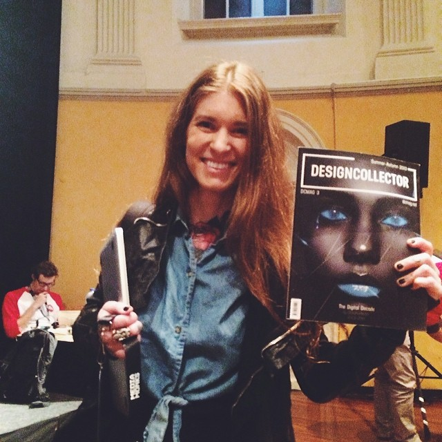 Sara Blake with (last) Designcollector Magazine 3, 2014
