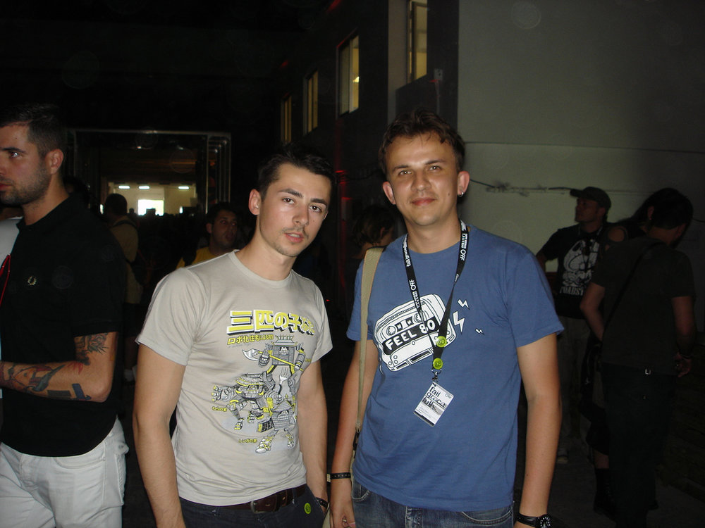 With Andrei Robu at OFFF 2009