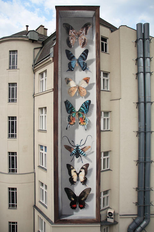 & Butterflies on the walls by street artist Mantra u2014 Designcollector