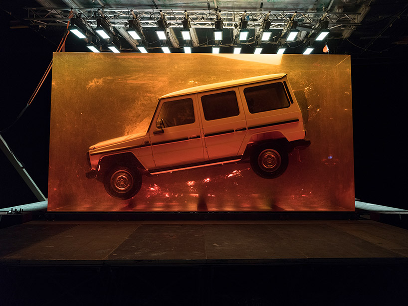 The 1979 model of the G-class is enclosed in 44.4 tones of synthetic resin