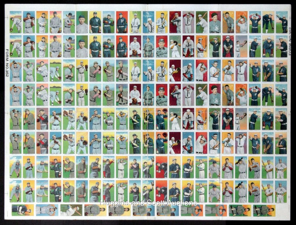 Uncut sheet of Obak Tobacco cards had family provenance: it sold for $16,000 (
