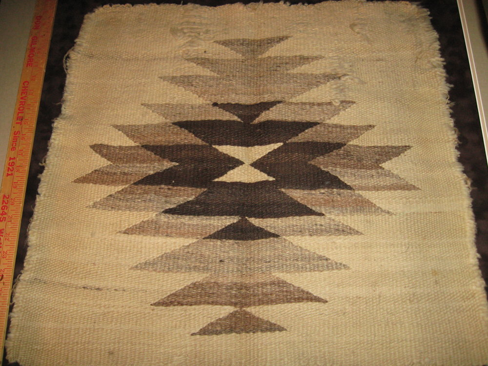 Was this Navajo Saddle Blanket a Wedding Gift in 1912?