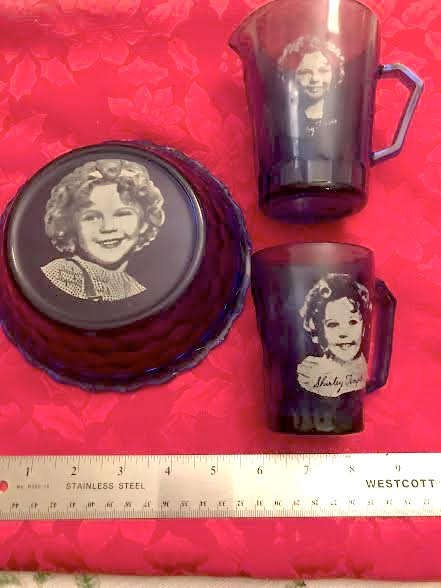 The bowl, mug and milk pitcher were gifts with purchase and mail im premiums