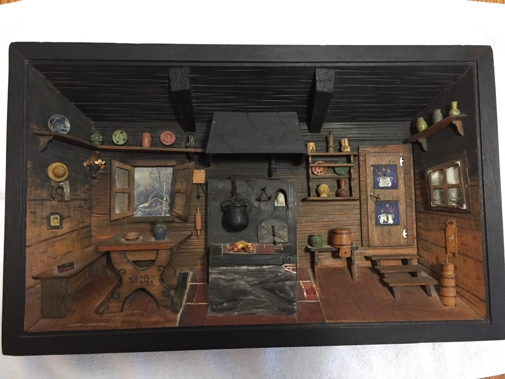 Although the date on the table reads 1848 this diorama is a 20th century creation.