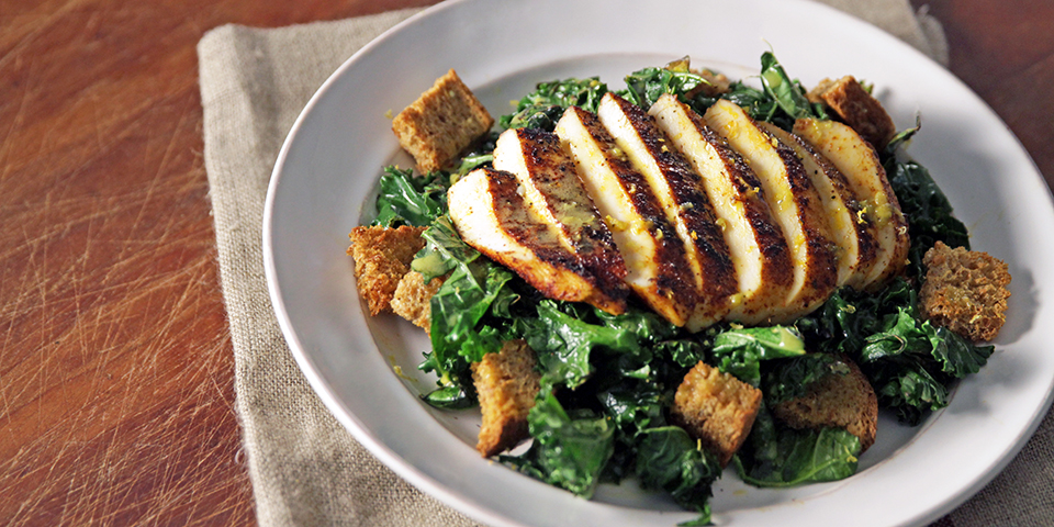 Toasted Kale Salad