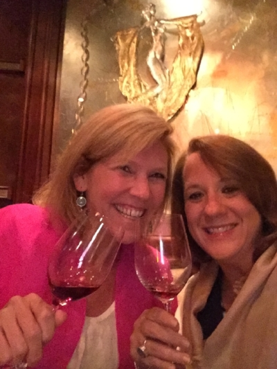CHEERS!! Enjoying dinner at The Stars Supper Club.