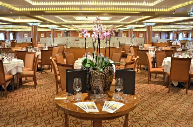 The Restaurant is sophisticated and elegant, serving international cuisine.