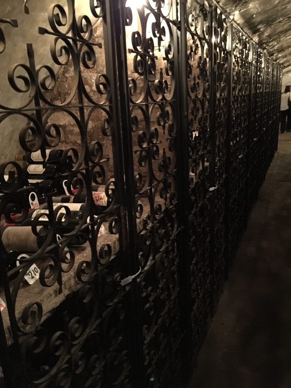 The wine cellar...once a WWII bunker