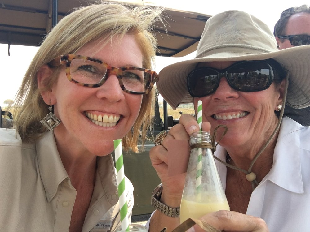 Susan and her Brownell colleagues stayed hydrated with mango smoothies at Vumbura Plains Camp.