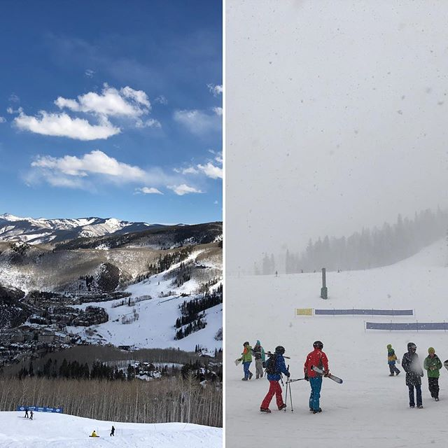 12:26 pm and 2:47 pm in Beaver Creek Colorado. . . . . @ritzcarlton  #travelwithkingandwhitson  #travelwithbrownell  #colorado #beavercreek