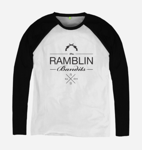 black white long sleeve shirt