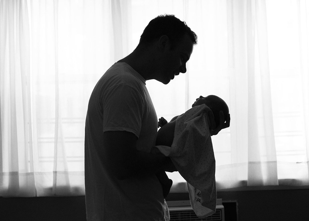 Silhouette father and baby girl Connecticut.jpg