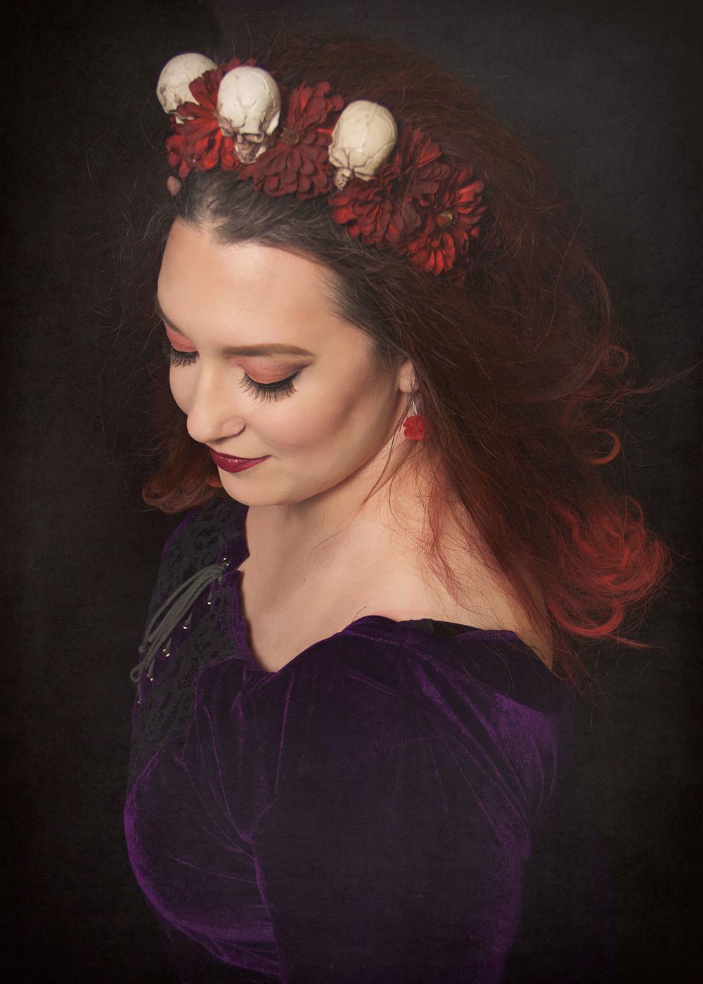 skull headband beautiful woman.jpg
