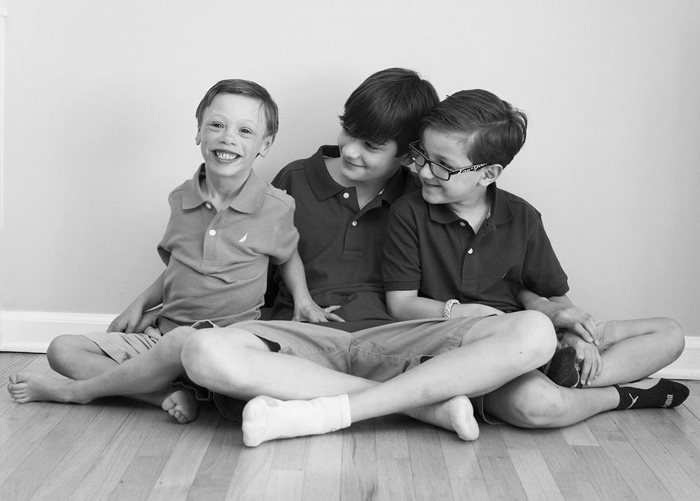 *Three brothers black and white studio shoot fairfield CT.jpg
