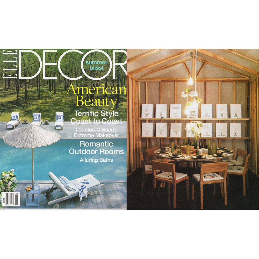 ELLE DECOR - Romantic Outdoor Spaces