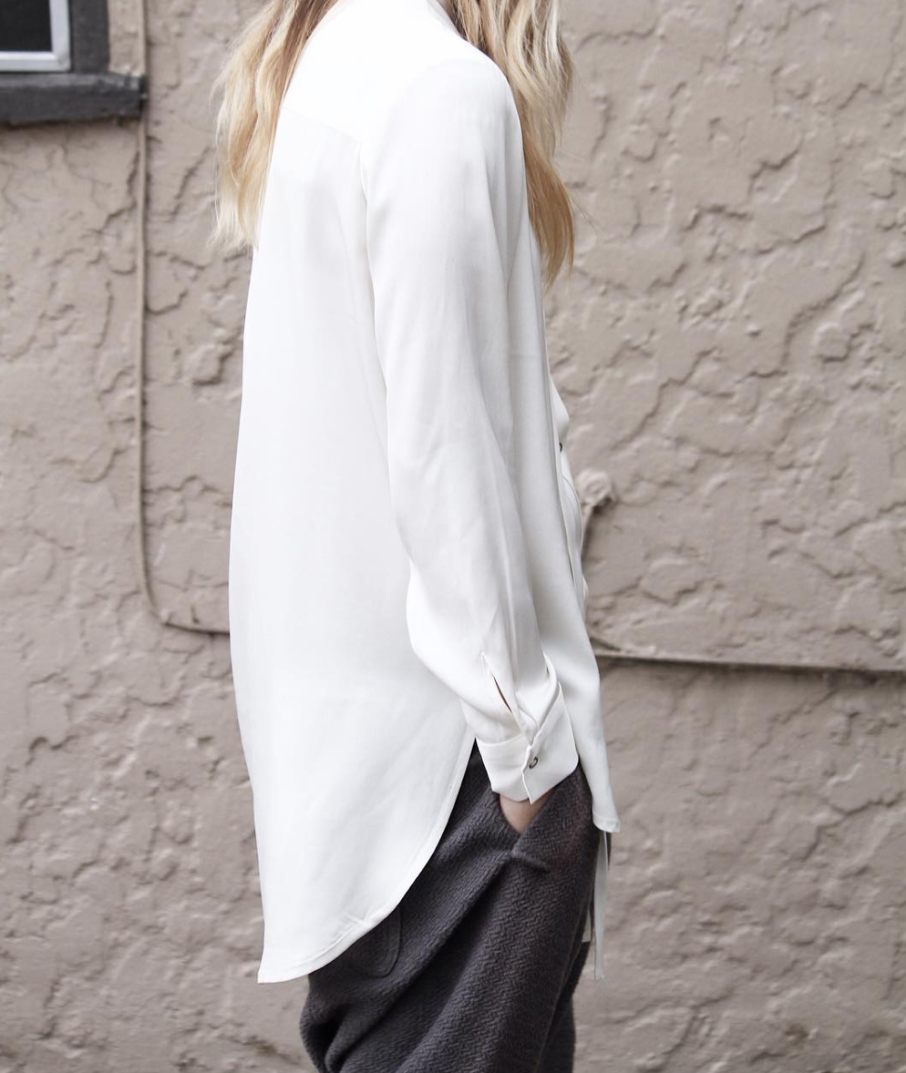 The Degaulle Tunic in ivory | art dept. clothing