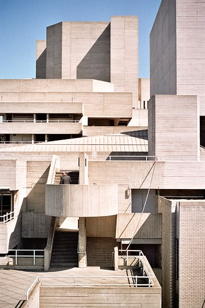 Denys Lasdun, Brutalist architecture - Béton brut - Royal National Theatre, South Bank Lambeth, London