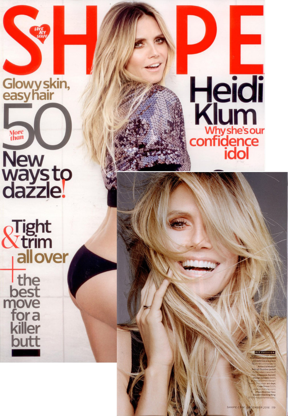 Heidi Klum on the Cover of Shape Magazine