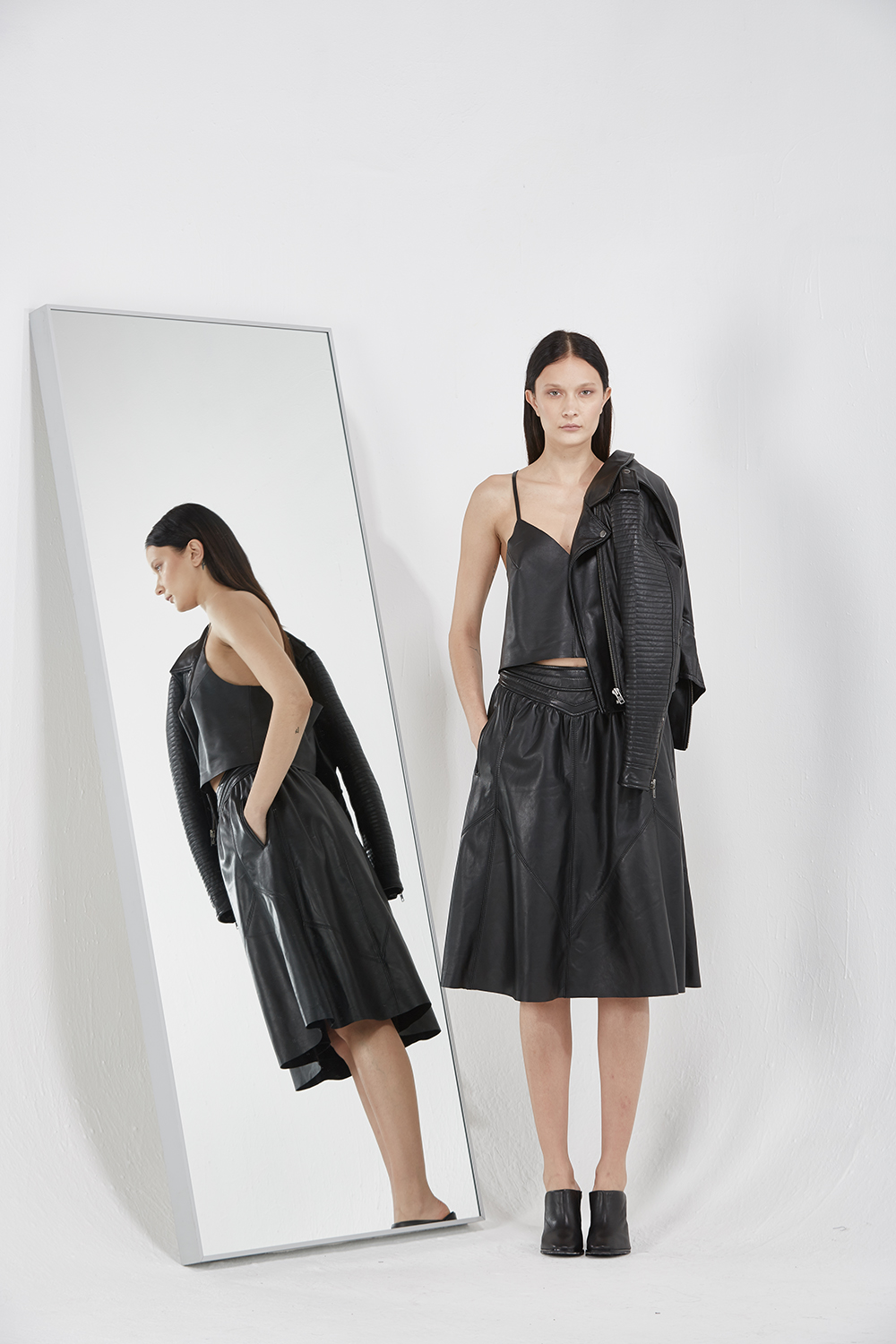 Leather Skirt <br>$385