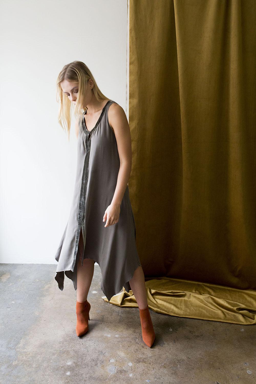 Velvet Trim Dress