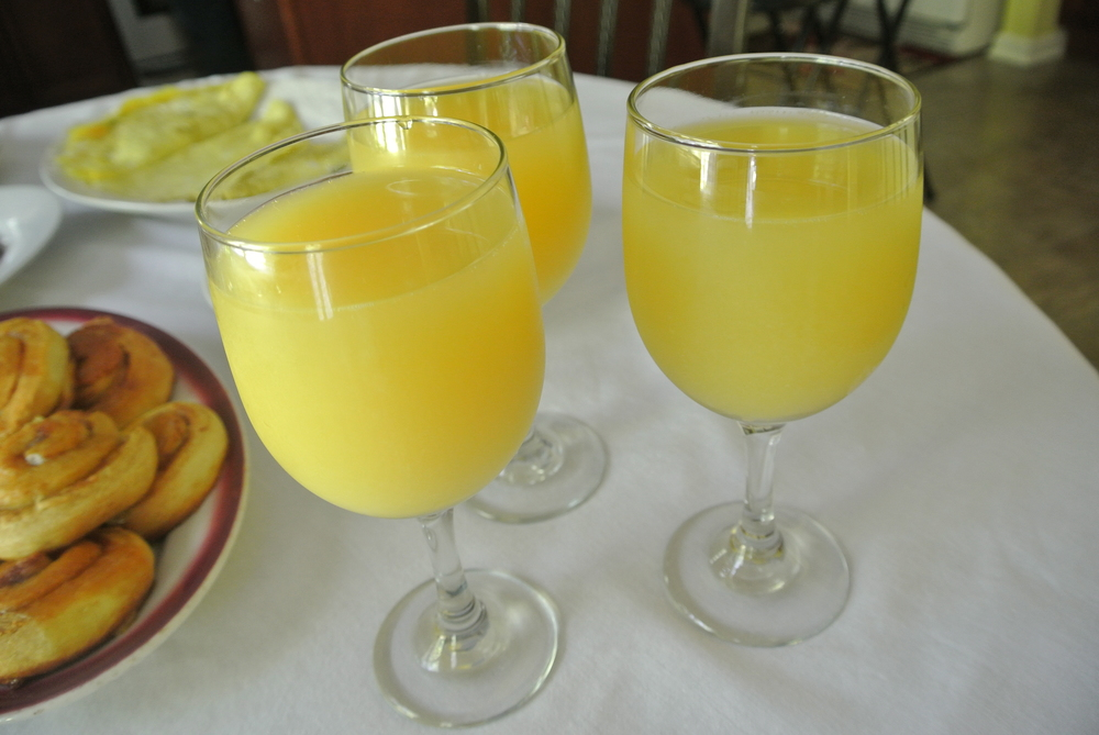 Mimosas+OJ (I wanted to feel fancy too)