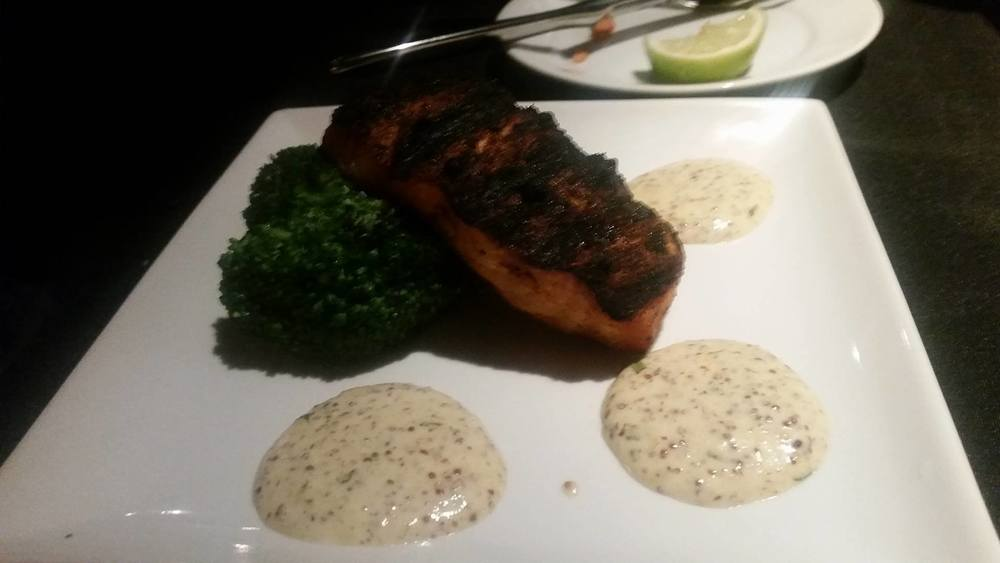 More salmon with greens