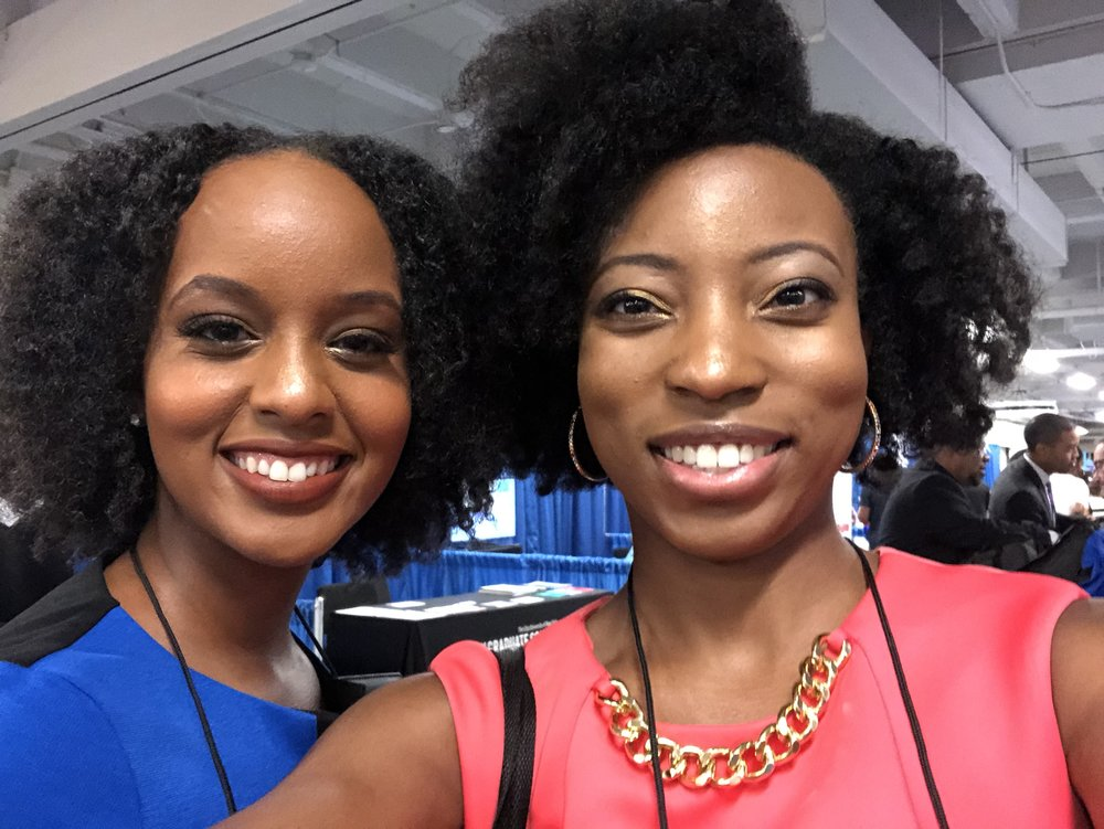 Senait Gebregiorgis, an amazing young reporter I met in New Orleans and reconnected with in Detroit. She was probably the first recent grad I saw with natural hair, working in broadcast.