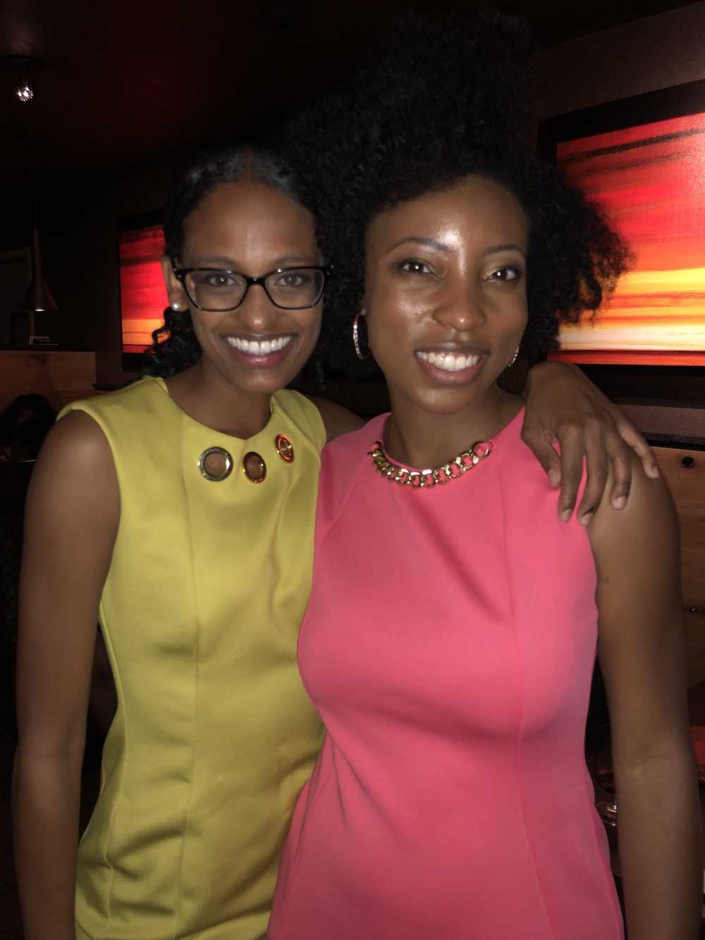 My big sister and mentor Hannah Gebresilassie. She wore traditional East African braids on air while she worked in southern Illinois. She is a huge inspiration to me and I'm lucky to call her my friend.