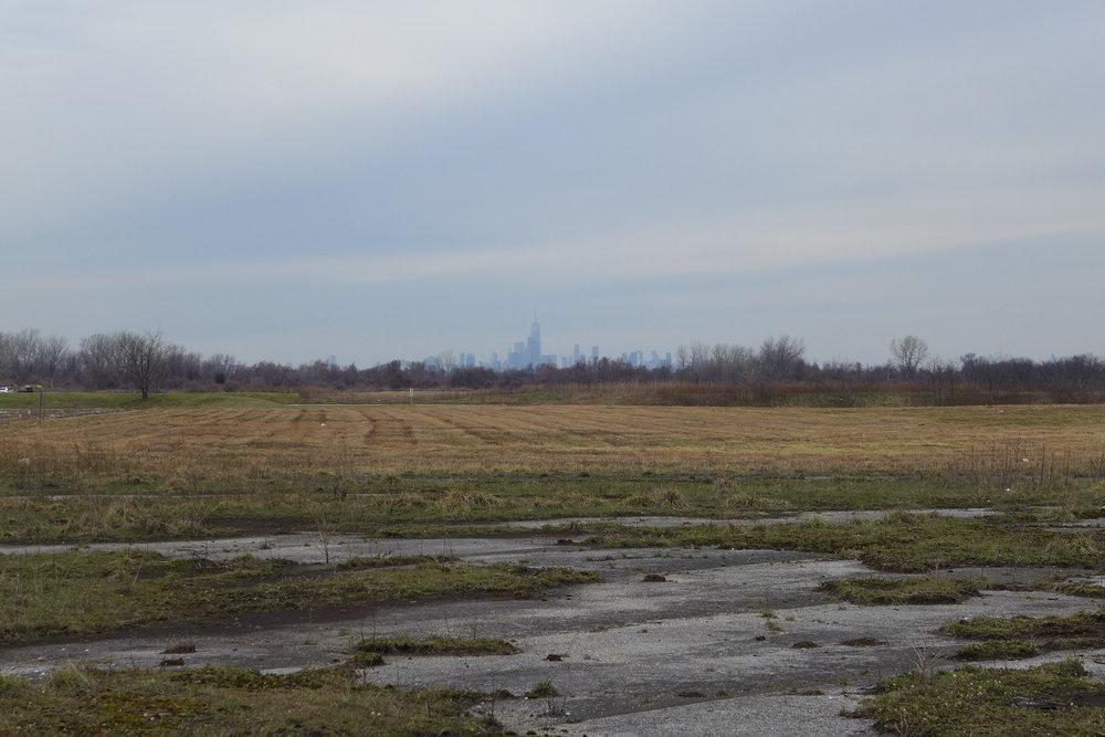 View of Manhattan from Floyd Bennett Field