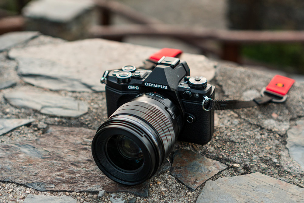 The Olympus E-M5 II with the m.Zuiko 25mm f/1.2 Pro lens