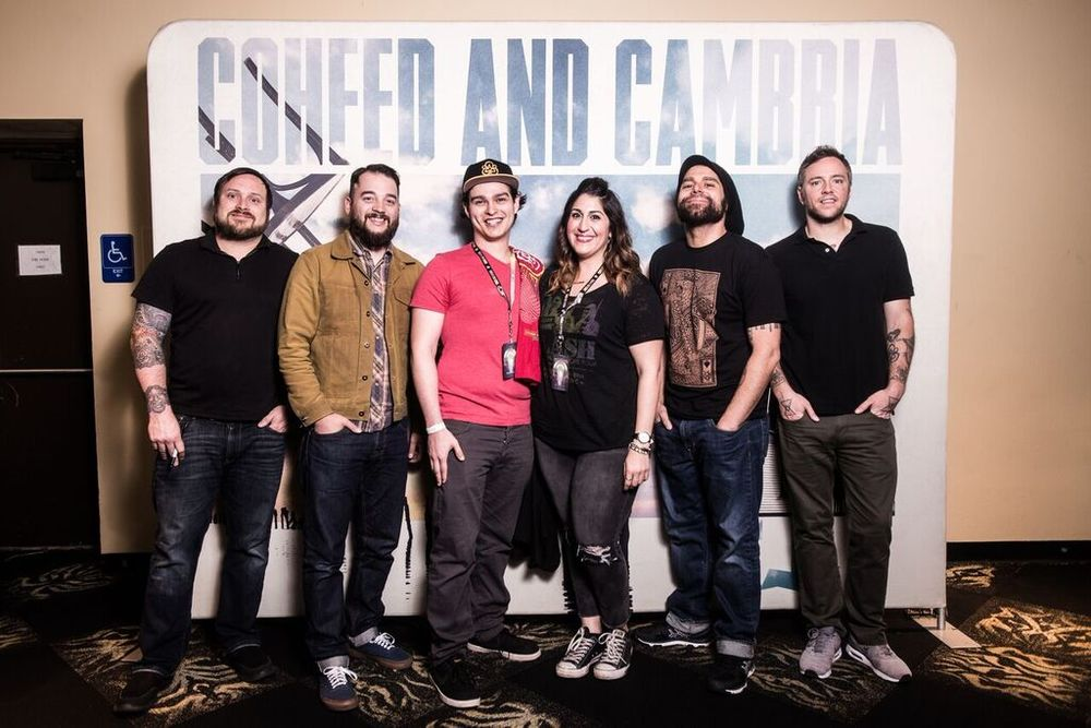 Travis, Zach, Randy, Myself, Claudio and Josh - Coheed & Cambria