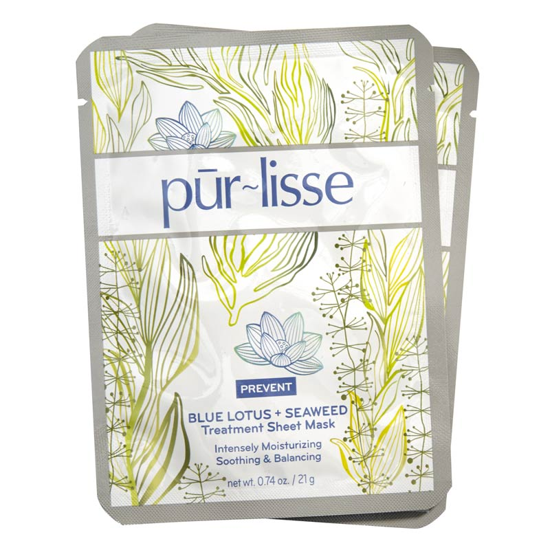 Pur~lisse - Blue Lotus + White Tea Sheet Mask & Blue Lotus + Seaweed Sheet Mask