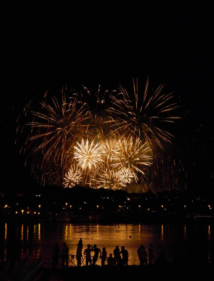 Fireworks on the French Riviera, 4th of July 2013