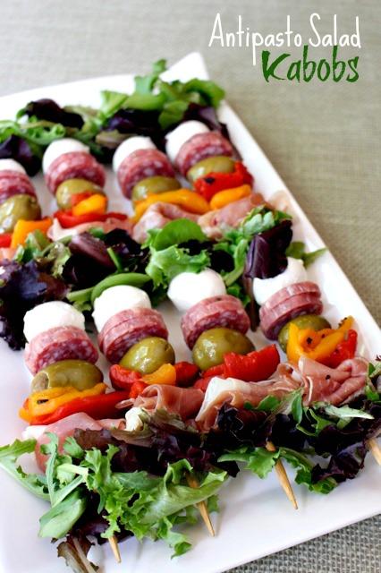 Antipasto Salad Kabobs - by MANtitlement